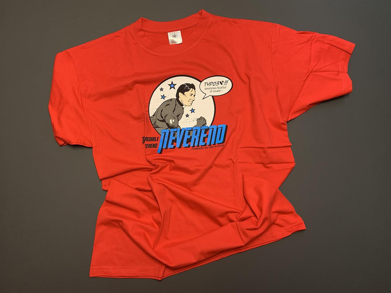 Rotes Shirt mit Comic-Druck