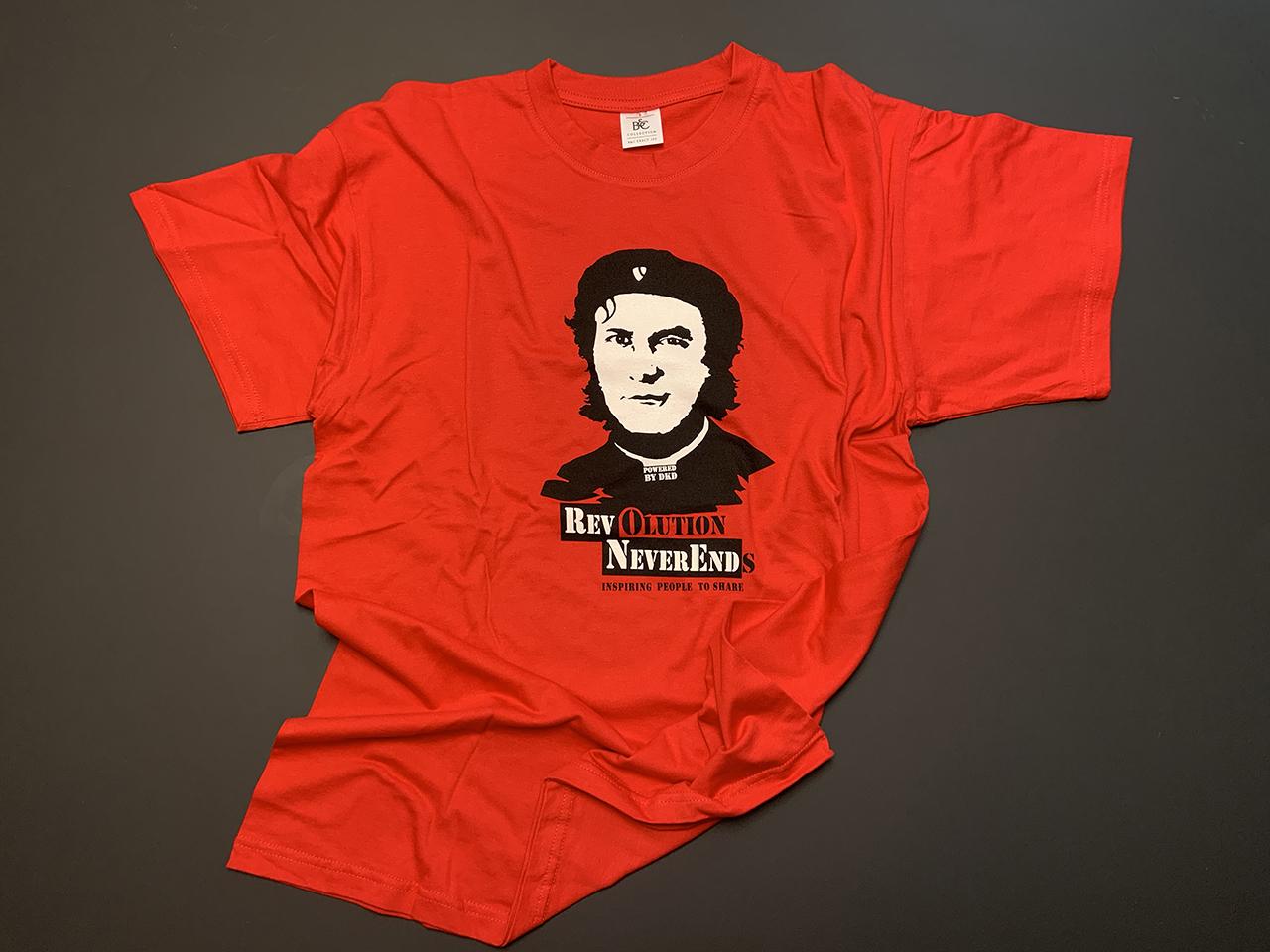 Rotes Shirt mit Revolution-Print (Frauen)